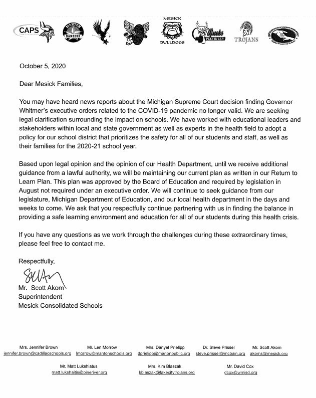 Parent Letter Supreme Court Rulings