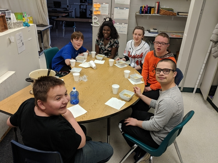 Life Skills class and homemade chicken noodle soup.