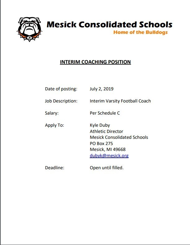Interim Football Coach