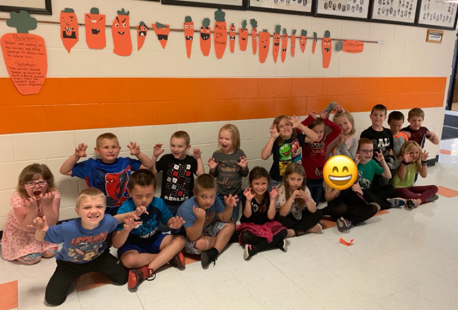 1st Grade and Creepy Carrots