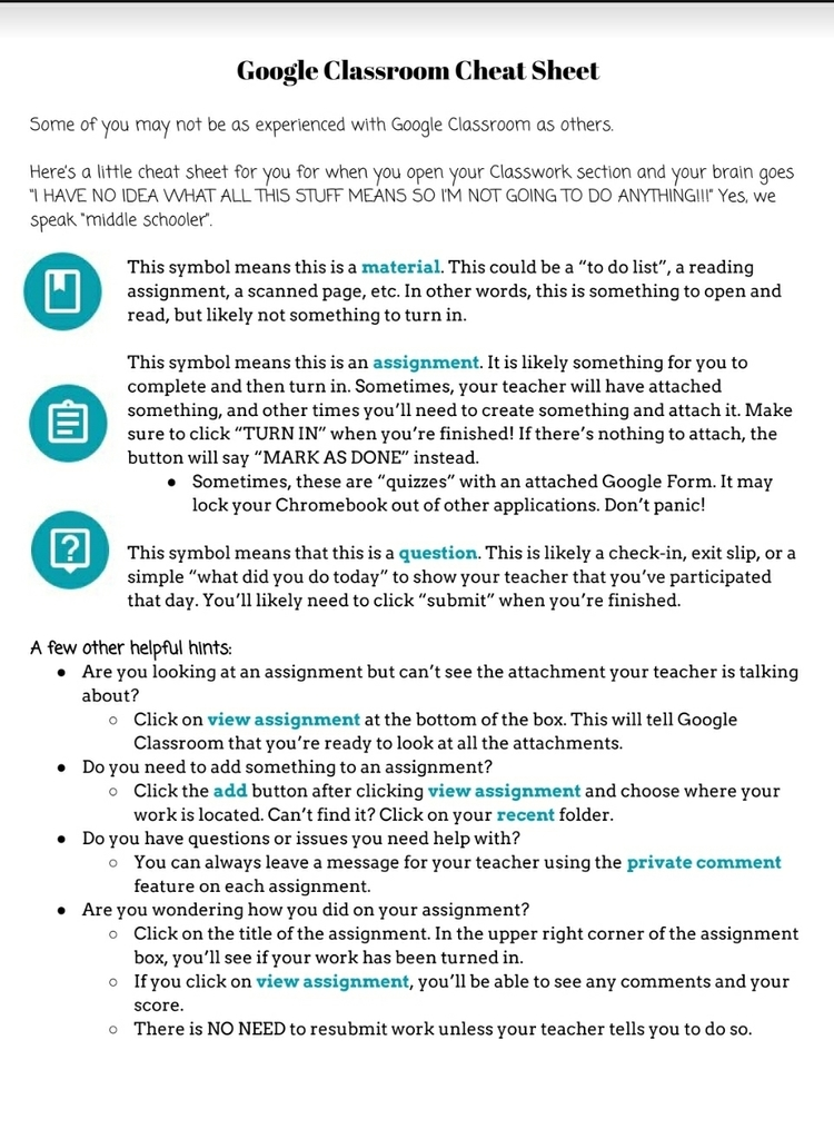Are you  familiar with your child's Google Classroom? Here is a handy-dandy one-pager to help you! 👨‍💻👩‍💻