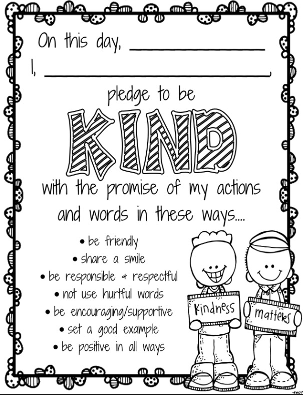 Kindness pledge